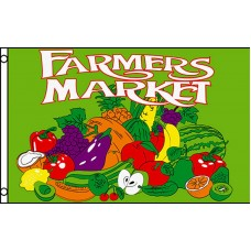 Farmers Market Green 3' x 5' Business Flag