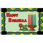 Happy Kwanzaa 3' x 5' Polyester Flag