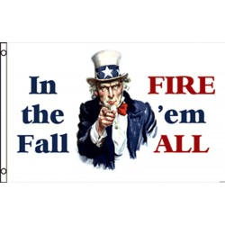 In the Fall, Fire 'em All 3'x 5' Flag