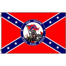 Rebel The South Will Rise Again 3' x 5' Polyester Flag