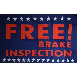 Free Brake Inspection 3' x 5' Polyester Flag
