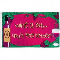 Wine A Bit 3' x 5' Polyester Flag