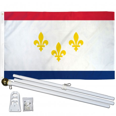 New Orleans Louisiana 3' x 5' Polyester Flag, Pole and Mount