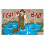 Fish Or Cut Bait 3' x 5' Polyester Flag