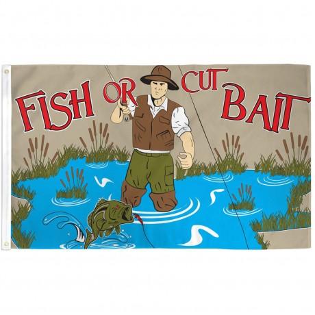 Fish Or Cut Bait 3' x 5' Polyester Flag
