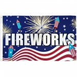Fireworks Patriotic 3' x 5' Polyester Flag