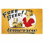 Free Beer Tomorrow vintage 3'x 5' Poly Flag