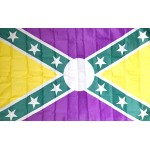 Mardi Gras Battle 3' x 5' Polyester Flag