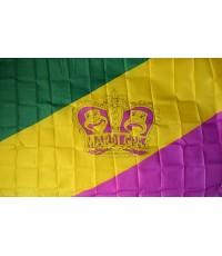 Mardi Gras Crown 3' x 5' Polyester Flag