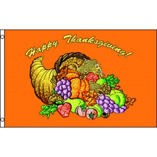 Happy Thanksgiving 3' x 5' Polyester Flag