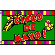 Cinco De Mayo 3' x 5' Polyester Flag
