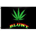 Blunt Marijuana with Leaf 3' x 5' Polyester Flag
