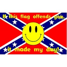 Rebel Made My Day Smiley Face 3' x 5' Polyester Flag