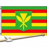 KANAKA MAOLI 3' x 5'  Flag, Pole And Mount.