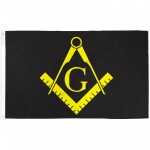 Masonic Black & Yellow Historical 3'x 5' Flag