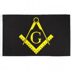 Masonic Black & Yellow Historical 3'x 5' Flag