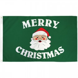 Merry Christmas Green 3' x 5' Polyester Flag