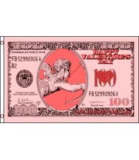 Cupid Money $100 Bill 3'x 5' Novelty Flag