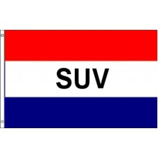 SUV Patriotic 3' x 5' Polyester Flag