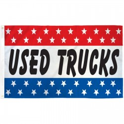 Used Trucks Patriotic Stars 3' x 5' Polyester Flag