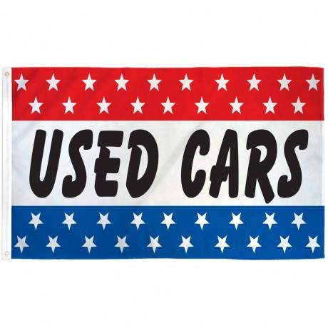 Used Cars Patriotic Stars 3' x 5' Polyester Flag
