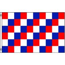 Checkered Red Blue White 3' x 5' Polyester Flag