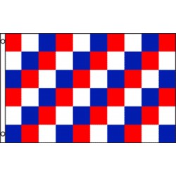 Checkered Red Blue White 3' x 5' Polyester Flag