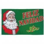 Feliz Navidad Santa 3' x 5' Polyester Flag