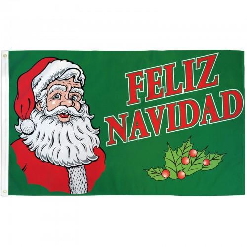 Heineken Feliz Navidad.Feliz Navidad Santa 3 X 5 Polyester Flag