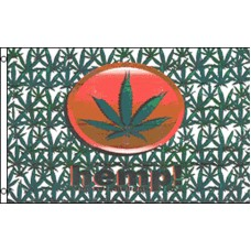 HEMP MARIJUANA LEAVES POLY 3' X 5' FLAG