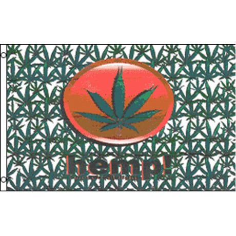 Hemp Marijuana 3' x 5' Polyester Flag