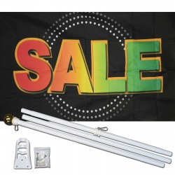 Sale Neon 3' x 5' Polyester Flag, Pole and Mount