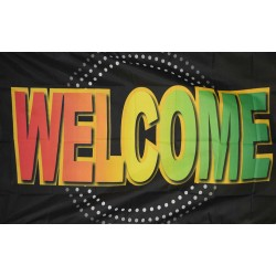 Welcome Neon 3' x 5' Polyester Flag