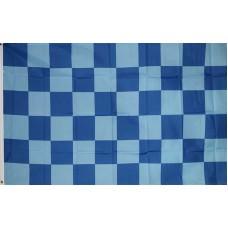 Checkered Dark Blue Light Blue 3' x 5' Polyester Flag