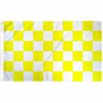 Checkered Yellow White 3' x 5' Polyester Flag