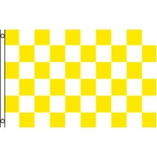 Checkered Yellow White 3' x 5' Polyester Flag