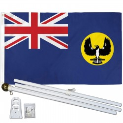 South Australia 3' x 5' Polyester Flag, Pole and Mount