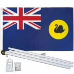 Western Australia 3' x 5' Polyester Flag, Pole and Mount