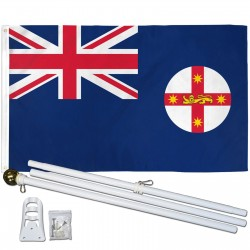 New South Wales 3' x 5' Polyester Flag, Pole and Mount