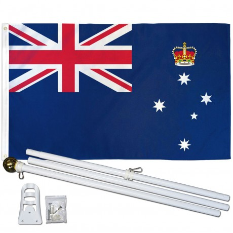 Victoria 3' x 5' Polyester Flag, Pole and Mount