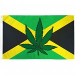 Jamaica Country Marijuana Leaf 3' x 5' Polyester Flag