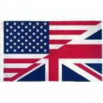 USA United Kingdom Friendship 3' x 5' Polyester Flag