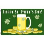 Happy St. Patty's Day 3'x 5' Poly Flag