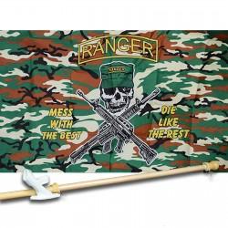 RANGER CAMO 3' x 5'  Flag, Pole And Mount.