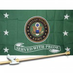 ARMY SERVED  3' x 5'  Flag, Pole And Mount.