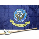 NAVY 3' x 5'  Flag, Pole And Mount.