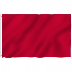Solid Red Nylon 3'x 5' Flag