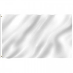 Solid White Nylon 3'x 5' Flag