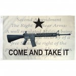 Come And Take It 2nd Amendment 3' x 5' Polyester Flag