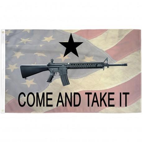 Come And Take It American Flag Custom 3'x 5' Flag
